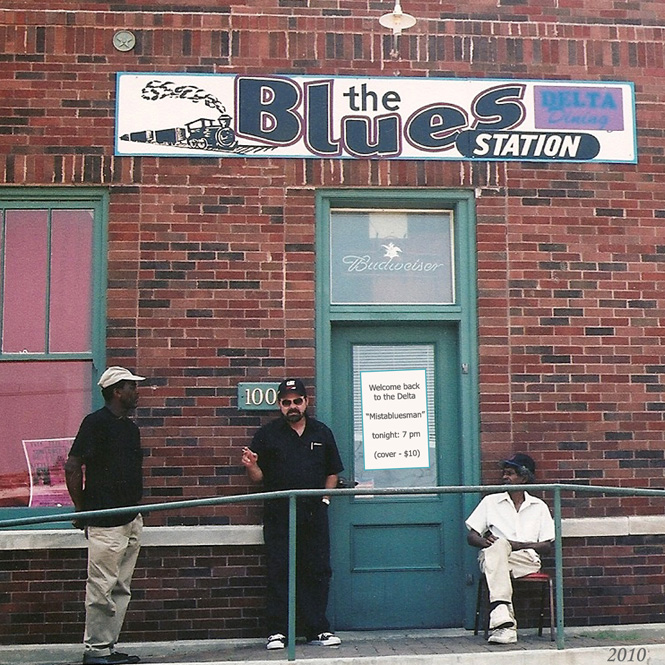 "Doc at ""The Blues Station"" in Clarksdale, Mississippi"